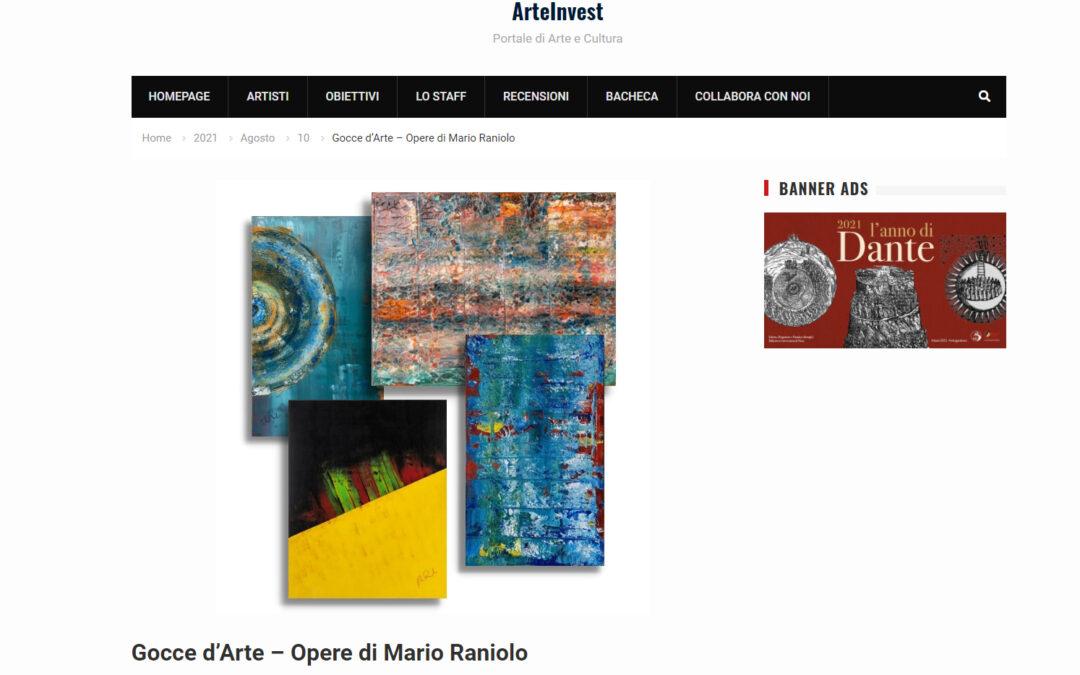 Gocce d'Arte – Opere di Mario Raniolo